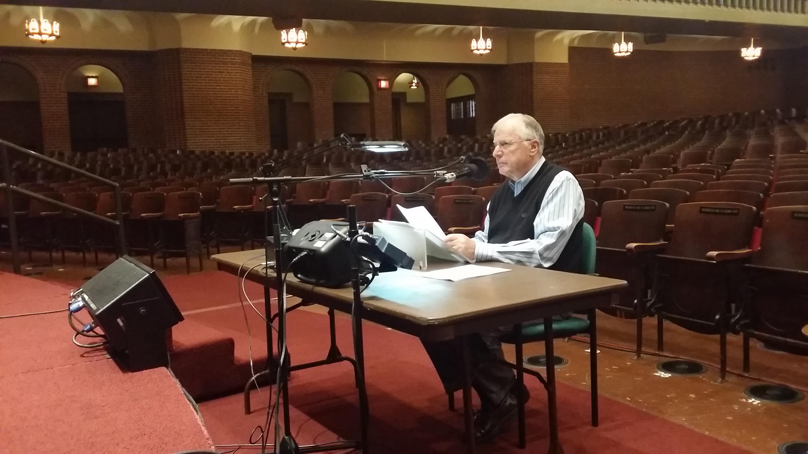 Dr. Lutzer recording