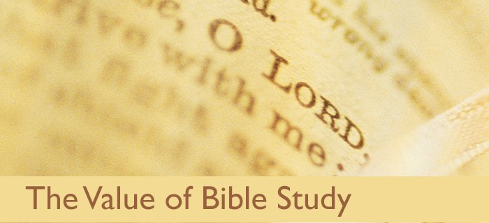 The Value Of Bible Study poster