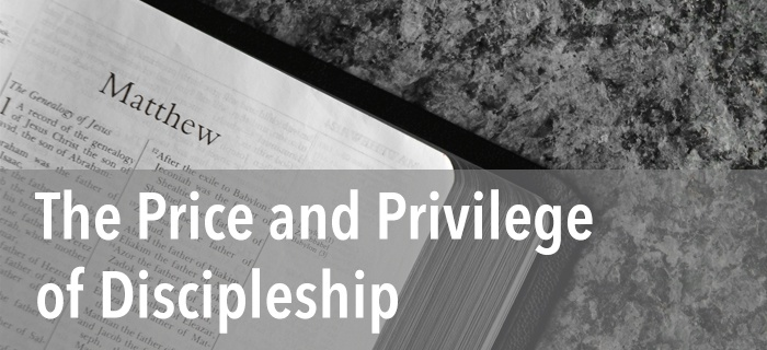 The Price and Privilege of Discipleship poster