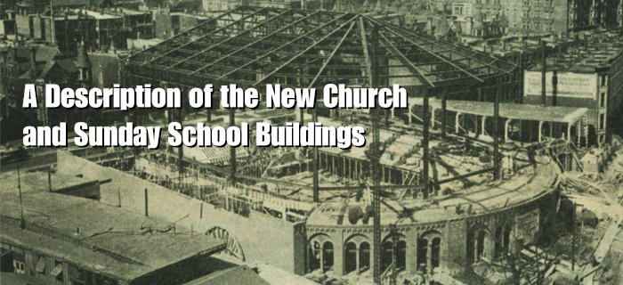 A Description of the New Church and Sunday School Buildings poster