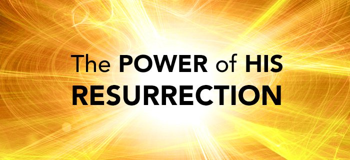 The Power Of His Resurrection poster