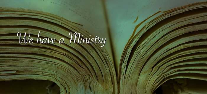 We Have a Ministry poster