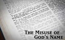 The Misuse Of God's Name Poster