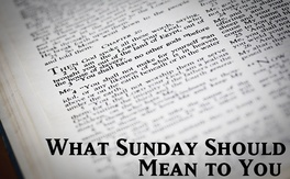 Poster for What Sunday Should Mean To You