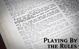 Poster for Playing By The Rules