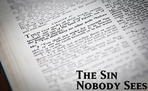 The Sin NobodySees Poster