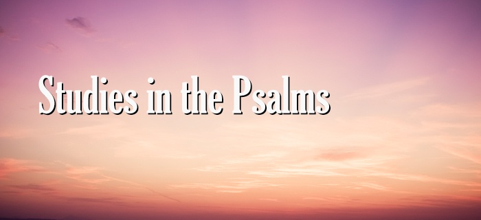 Studies in the Psalms poster