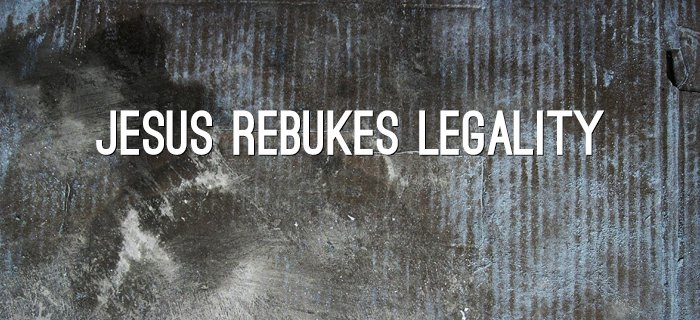 Jesus Rebukes Legality poster