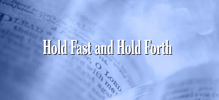 Hold Fast and Hold Forth poster