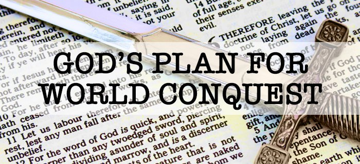 God's Plan For World Conquest poster