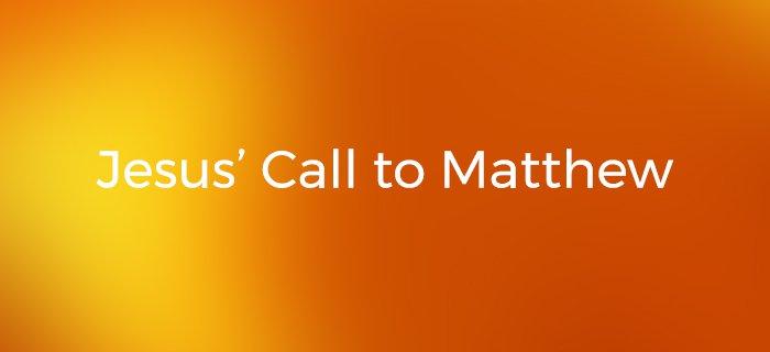 Jesus' Call To Matthew poster