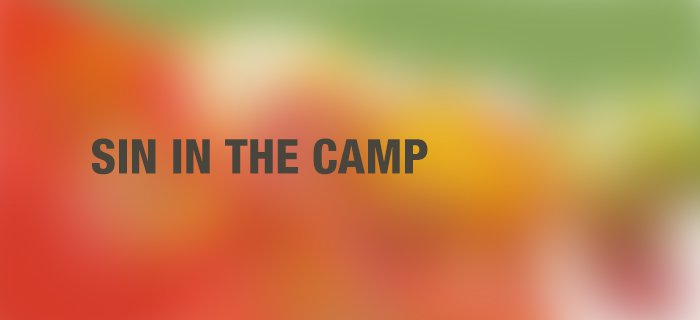 Sin In The Camp poster
