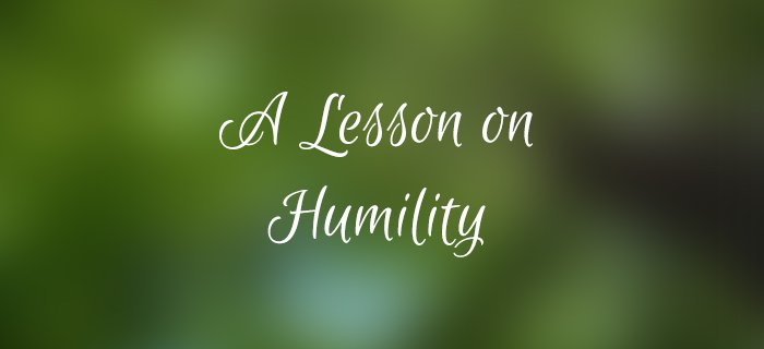 A Lesson On Humility poster