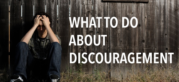 What to do about Discouragement poster