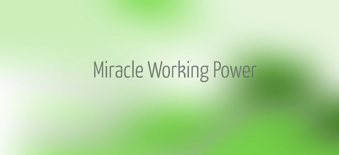 Miracle Working Power poster