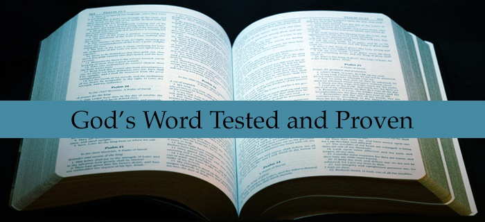 God's Word Tested and Proven poster