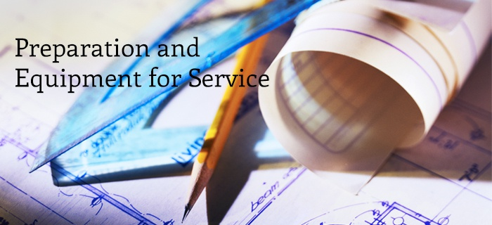 Preparation And Equipment For Service poster