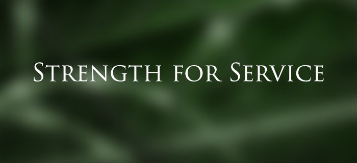Strength For Service poster
