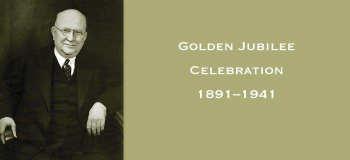 Golden Jubilee Celebration: 1891–1941 poster