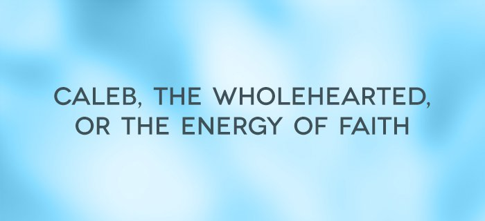 Caleb, the Wholehearted, or the Energy of Faith poster