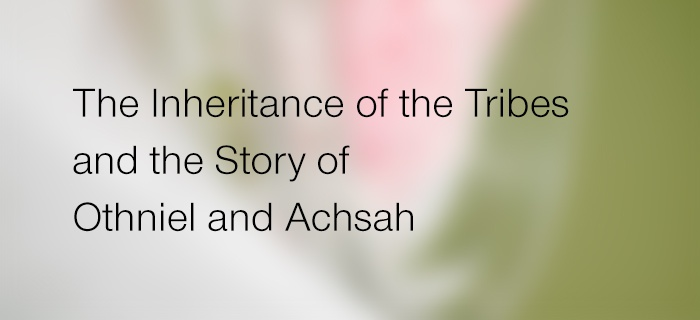 The Inheritance Of The Tribes And The Story Of Othniel And Achsah poster