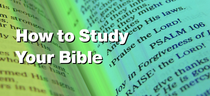 How to Study Your Bible poster