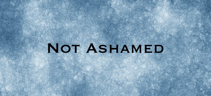 Not Ashamed poster