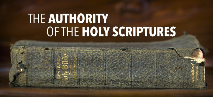 The Authority Of The Holy Scriptures poster